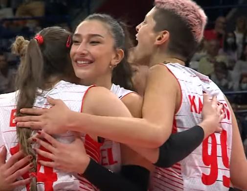 ЧЕ по волейболу - женщины. Турция - Сербия