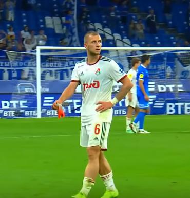 Динамо - Локомотив. Баринов был удален с поля
