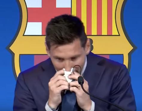 Лионель Месси расплакался на пресс-конференции