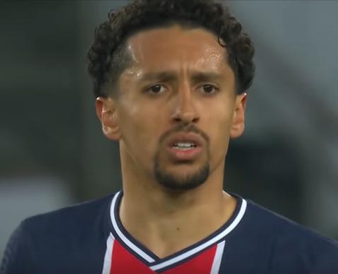 ПСЖ - Манчестер Сити. Маркиньос забил первый гол в матче