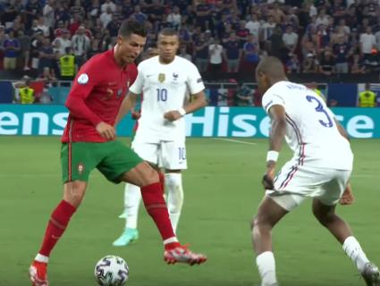 Роналду - сборная Португалии против сборной Франции